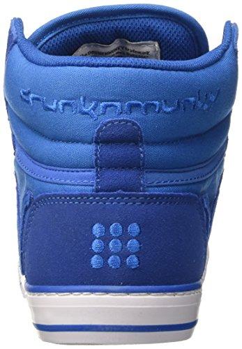 DrunknMunky Boston Monocolor, Zapatillas de Tenis para Hombre Blu (Royal)