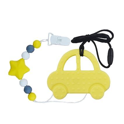 Mordedor de silicona INCHANT bebé masticable Con Chupete clip - no tóxico 2-en-