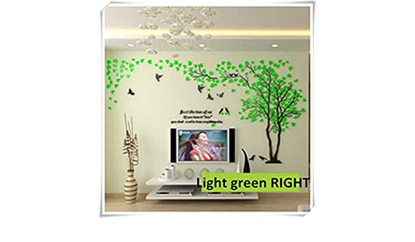 Amazon.com: Jewh Large Size Tree Acrylic Decorative 3D Wall Sticker - DIY Art TV Background Wall Poster - Home Decor Bedroom Living Room Wall Stickers (S) ...