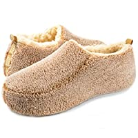 Deals on Oooh Yeah Men's Soft Cozy Non-Slip Solid Sherpa Slippers