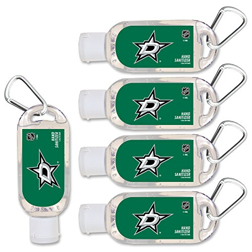 $2.00 OFF Dallas Stars Hand Sanitizer with Clip, 5-Pack. Moisturizers Aloe Vera and Vitamin E. (1.5 oz Containers) NHL Hockey Gear for Men and Women, Stocking Stuffers (Purse Stars Jersey Dallas)