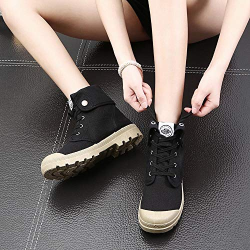 Style Shoes Black Fashion Shoes top Palladium Ankle Military Womens Casual High Boots O1T1x7
