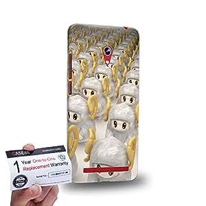 """Case88 [Asus Zenfone 6 6.0"""" A600CG] 3D impresa Carcasa/Funda dura para & Tarjeta de garantía - 3D Visual Design Sheepy D 3D Animals"""