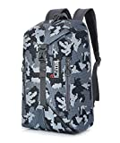 30L Men Durable Waterproof Travel Hiking Casual Daypack Backpack Bag 17 Inch (Camouflage) For Sale