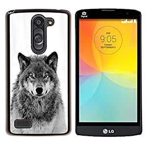 Dragon Case - FOR LG L Bello L Prime D337 - winter snow wild wolf howl black white - Caja protectora de pl??stico duro de la cubierta Dise?¡Ào Slim Fit