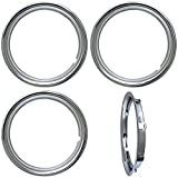 OxGord Trim Rings 16 inch diameter (Pack of 4) Chrome ABS Plastic Beauty Rims