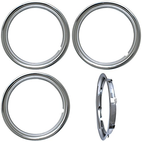 OxGord Trim Rings 16 inch diameter (Pack of 4) Chrome ABS Plastic Beauty Rims by OxGord