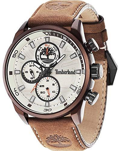 Timberland Watch Reloj Cronógrafo para Hombre de Cuarzo con Correa en Cuero TBL.14441JLBN07