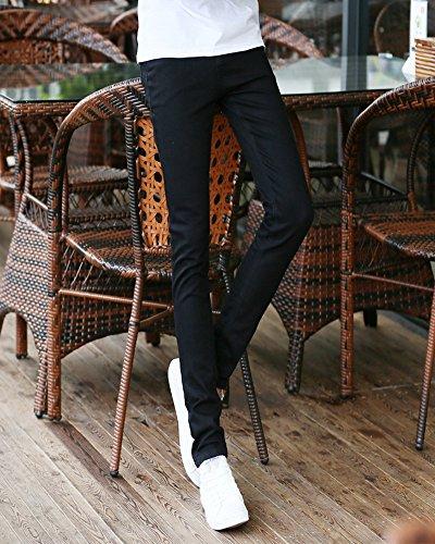 Pantaloni Nero Maschi Straight Casual Sottile Jeans Elasticità Uomo Gioventù XwzqzO
