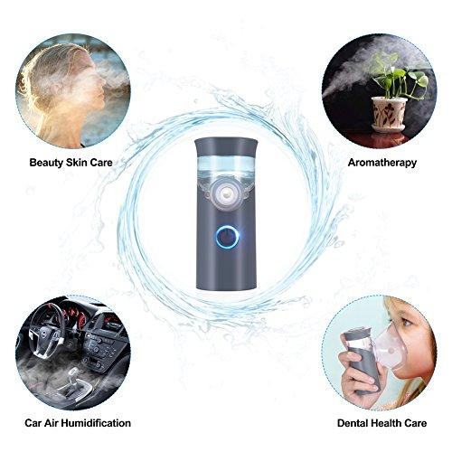 Punasi Mini Portable Inhaler, Handheld Ultrasonic Humidifier, Rechargeable Inhaler Machine for Adults Kids - Grey by Punasi (Image #7)