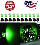 #9: ⭐️ LED Monster T10 194 LED Light bulb 168 LED Bulbs Bright Instrument Panel Gauge Cluster Dashboard LED Light Bulbs Set 10 T10 LED Bulbs with 10 Twist Lock Socket (Green)