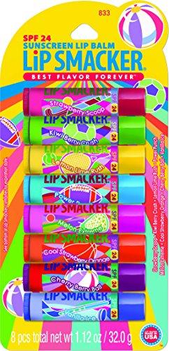 Bonnie Bell Lip Smacker SPF 24 Lip Balm - 8 Piece Party Pack - Lip Gloss Assortment