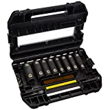 DEWALT DW22812 1/2-Inch Impact-Ready Socket Set, 10-Piece