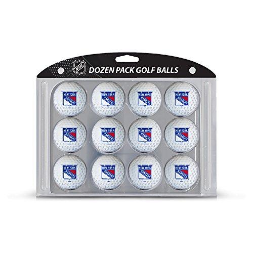Team Golf NHL New York Rangers Dozen Regulation Size Golf Balls, 12 Pack, Full Color Durable Team Imprint