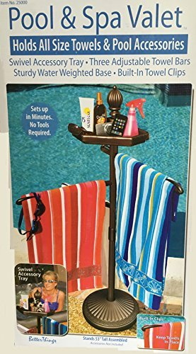 (Outdoor Pool and Spa Towel Valet - Brown)