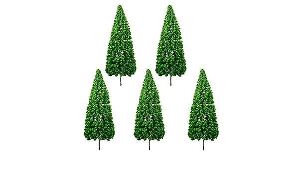 Nowbetter - Juego de 5 Mini árboles de Navidad de Pino de plástico ...