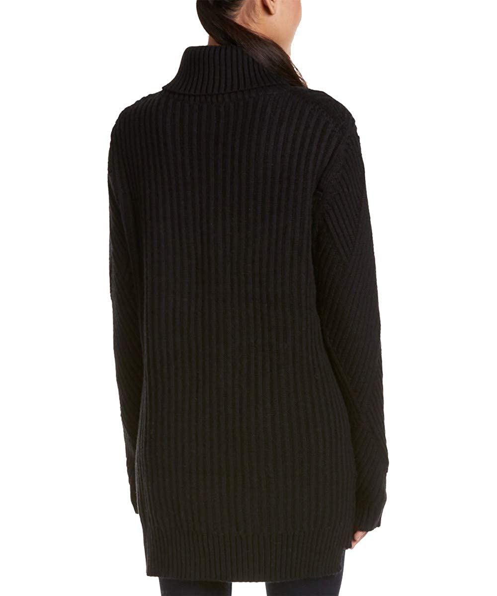 Black Fate Womens Chunky Turtlenek Tunic Sweater