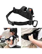 42.5Inch Motorcycle Harness for Kids - 600D Child Motorcycle Harnesssafety Harnesses - Adjustable with Two Handles - Breathable Material Black