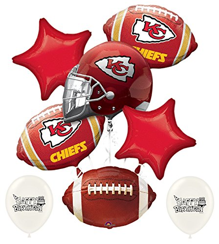 NFL AFC Football Teams Party Balloon Bouquet Bundle with Team Option (Kansas City -
