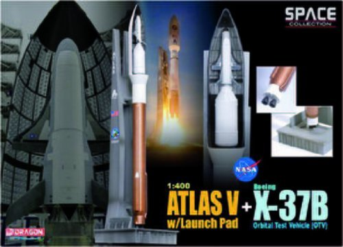 Review Dragon Models 1/400 Atla V With Launch Pad + X-37B Orbital Test Vehicle (OTV) (Space)