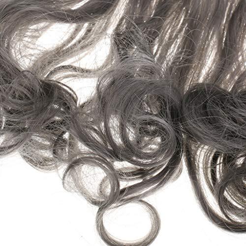 Dark Grey New 15cm Rinka Haircut DIY Long Wig Curly Hair for Dolls Accessory