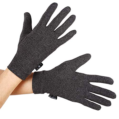 Arthritis Gloves 1 Pairs, Compression Gloves Support and Warmth for Hands, Finger Joint, Relieve Pain from Rheumatoid, Osteoarthritis, RSI, Carpal Tunnel, Tendonitis, Women (Medium, Black 1 Pair)