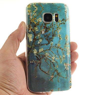 Casos hermosos, cubiertas, Árbol patrón TPU + caja del teléfono IMD para la galaxia s7edge / S7 / s6edge más / borde S6 / S6 ( Modelos Compatibles : Galaxy S7 Edge ) Galaxy S7 Edge