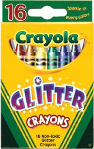 Bulk Buy: Crayola Glitter Crayons 16/Pkg 52-3716 (6-Pack)