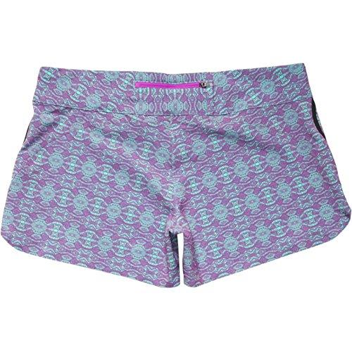 Under Armour Women UA HYDRO Abiline Board Shorts (10, Exotic Bloom/Tropical Tide)