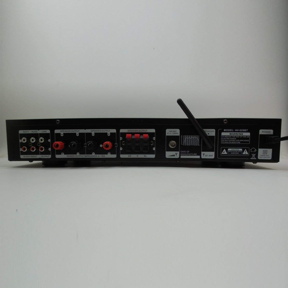 1120W 220V 5 canales de alta fidelidad de Bluetooth amplificador de potencia multifuncional estéreo digital de sonido envolvente amplificador de karaoke en ...
