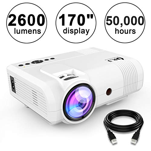 DR.J 2600Lumens Home Theater Mini Projector Max. 170