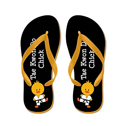 (CafePress - Tae Kwon Do Chick - Flip Flops, Funny Thong Sandals, Beach Sandals Orange)