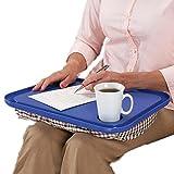 Hometom Lapdesks, Desk For Laptop Chair Student Studying Homework Writing Portable Dinner Tray Travel (Blue)