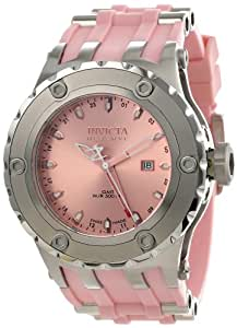 Invicta Men's 1399 Subaqua Reserve GMT Pink Dial Pink Polyurethane Watch