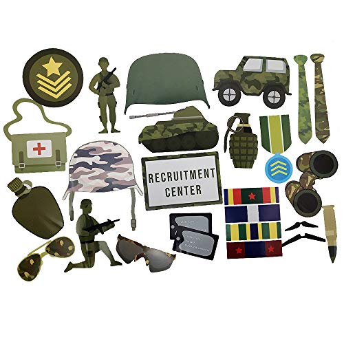 Military Photo Props (32 Pieces) for Photo Booths, for sale  Delivered anywhere in USA