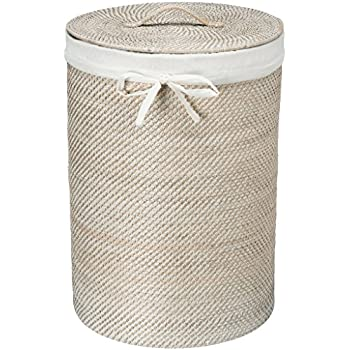Amazon Com Woven African Laundry Clothes Hamper White