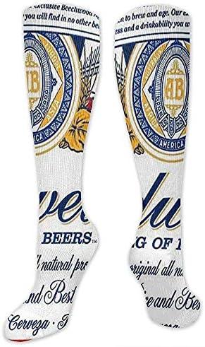 Ginger-Ale Budweiser Beer Süße Gemütliche Kniestrümpfe Aus Baumwolle Boot Socks Novelty Socks