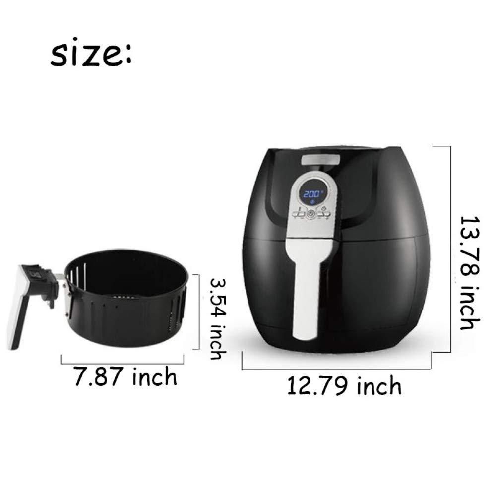 Freidora De Aire Digital, 1400 Vatios, 3.2 Litros, Tecnología De Circulación De Aire Rápida, Temporizador Manual Y Control De Temperatura: Amazon.es: Hogar