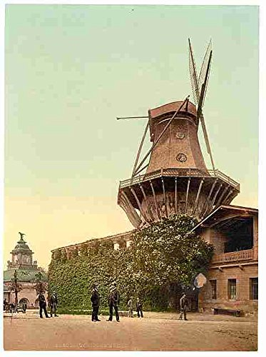 Windmill Potsdam Berlin A3 Box Canvas Print Amazon Co Uk