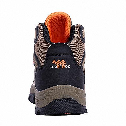 Ben Sports Zapatillas de senderismo Botas Correr en montaña para Hombre,37-46 marrón