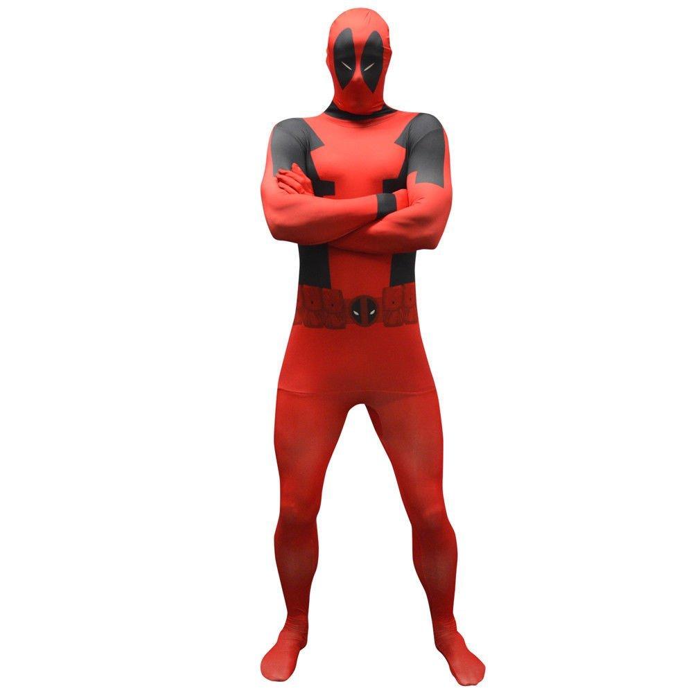 Morphsuit Marvel Superhelden Kostüm Deadpool Spiderman CPT America Zentai Suit (Deadpool/XXL)