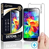 Defenslim Galaxy S5 Screen Protector (2 Pack) Clear HD, by Witkeen with Premium