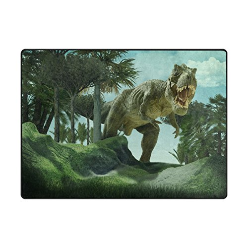 ALAZA Super Soft Modern 3D Dinosaur Area Rugs Living Room Carpet Bedroom Rug for Children Play Solid Home Decorator Floor Rug and Carpets 80x 58 Inch For Sale