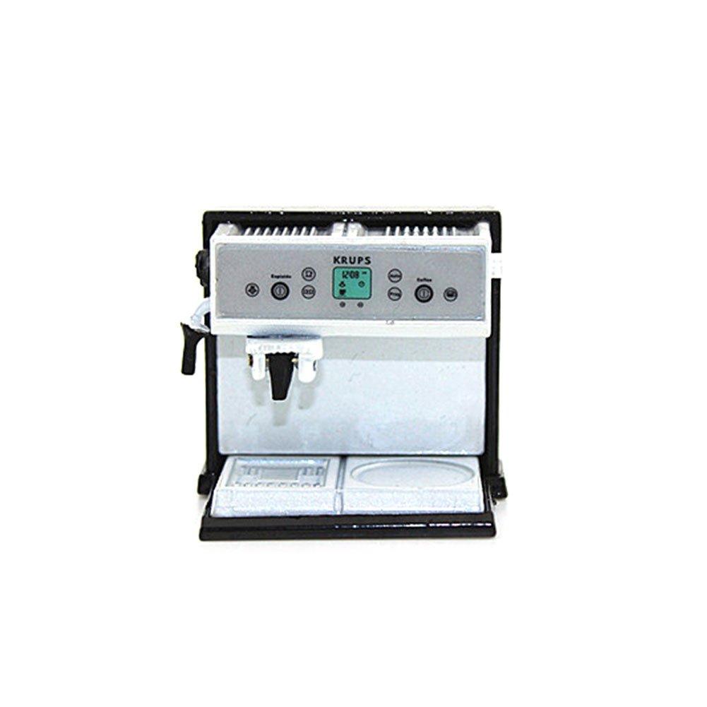 Momangel Miniature Coffee Maker Machine Furniture Model Collection,Mini Kitchen House Accessories Pretend Play Toys Gift