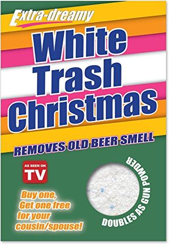 1004 'White Trash Christmas' - Funny Merry Christmas Greeting Card with 5