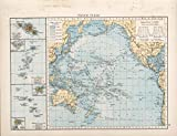 Map Poster - Pacific Ocean - 24 x18.5