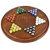 Games of strategy like CHESS AND CHECKERS can be tons of fun to play, but unfortunately, only two people can enjoy them at a time. CHINESE CHECKERS is a unique STRATEGY BOARD GAME in that it requires you to make logical, smart moves like ches...