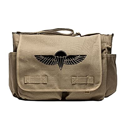 be9a1190384f 85%OFF IDF ISRAELI ARMY Paratrooper Wings BADGE Zahal Canvas Messenger  Shoulder Bag