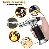 Sondiko Butane Torch, Refillable Kitchen Torch