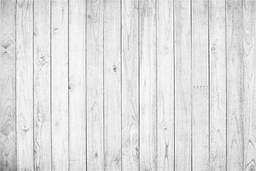 Laeacco 10x6.5ft Vinyl Backdrop Photography Background White Painted Planks Wall Wood Texture Grunge Background Weathered Stripes Wood Wall Children Baby Kids Adult Portrait Video Photo Studio Props ()